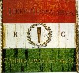 tricolore Repubblica Cispadana (bande orizzontali dall'alto: rosso, bianco, verde)